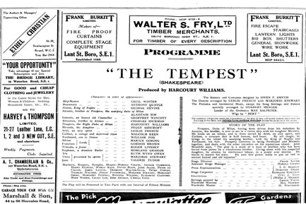 The Tempest Programme Page 2 Thumbnail