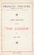 The Gusher Theatre Programme 1937